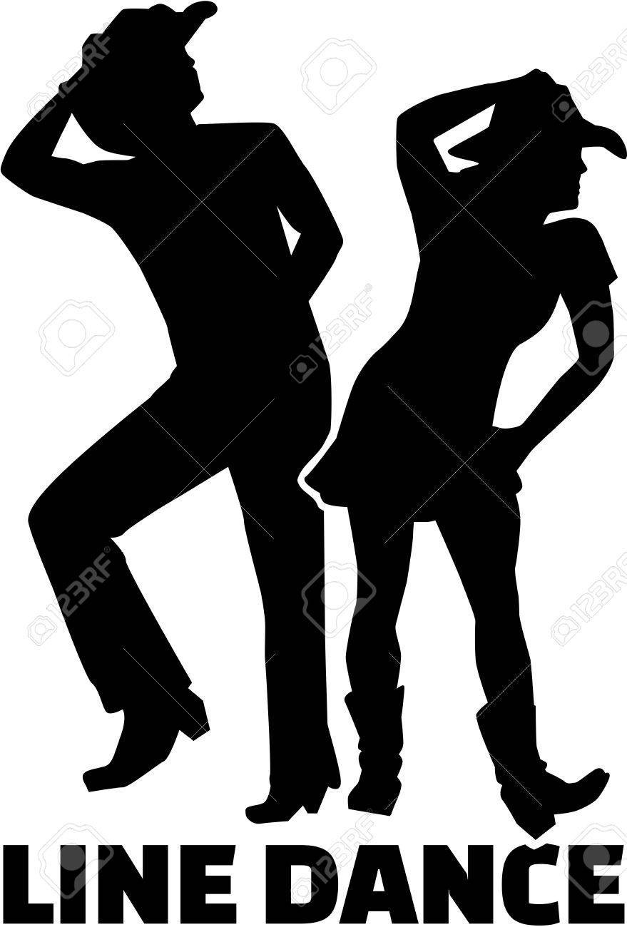 Line dance couple with word.