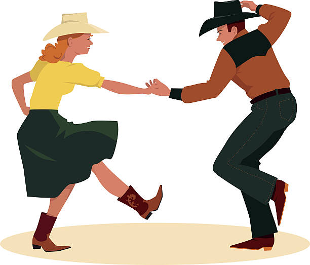 Best Country Dancing Illustrations, Royalty.