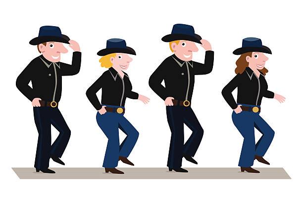 Line Dance Illustrations, Royalty.