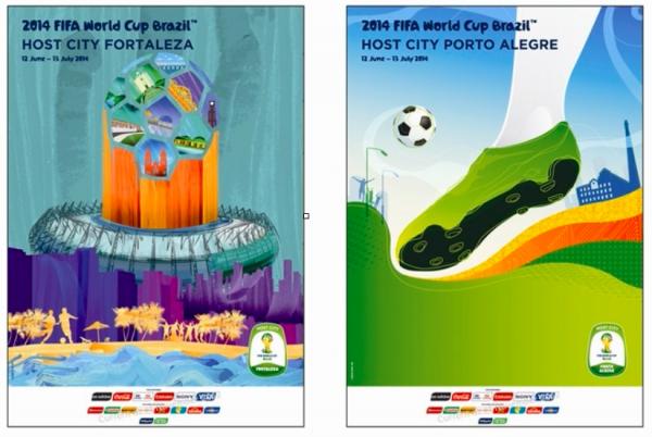 CDM 2014 : Les affiches publicitaires de la Coupe du Monde 2014.