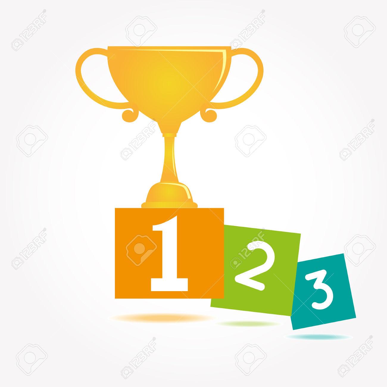 Vainqueur De La Coupe Icône Clip Art Libres De Droits , Vecteurs.