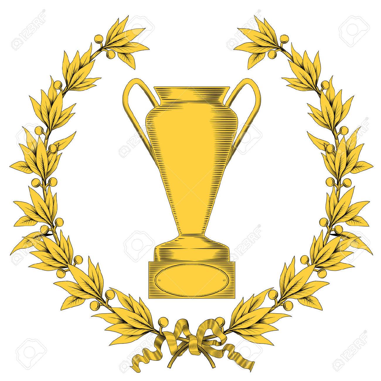Golden Laurel Torque Et Vainqueur De La Coupe Clip Art Libres De.