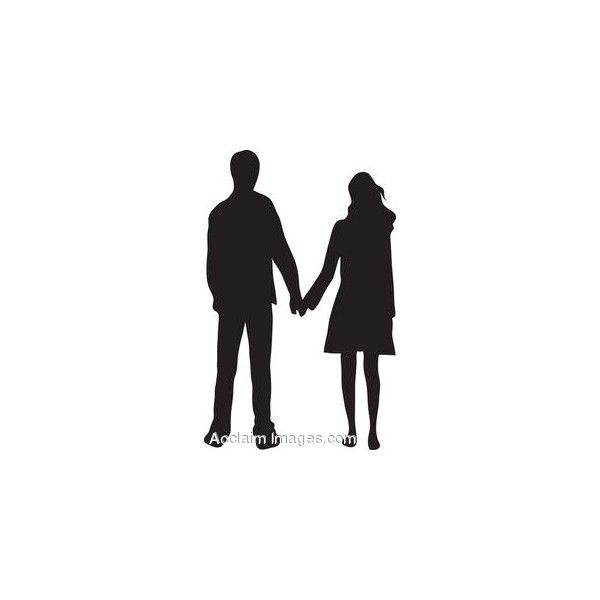 Clip Art of a Couple Holding Hands Silhouette found on.