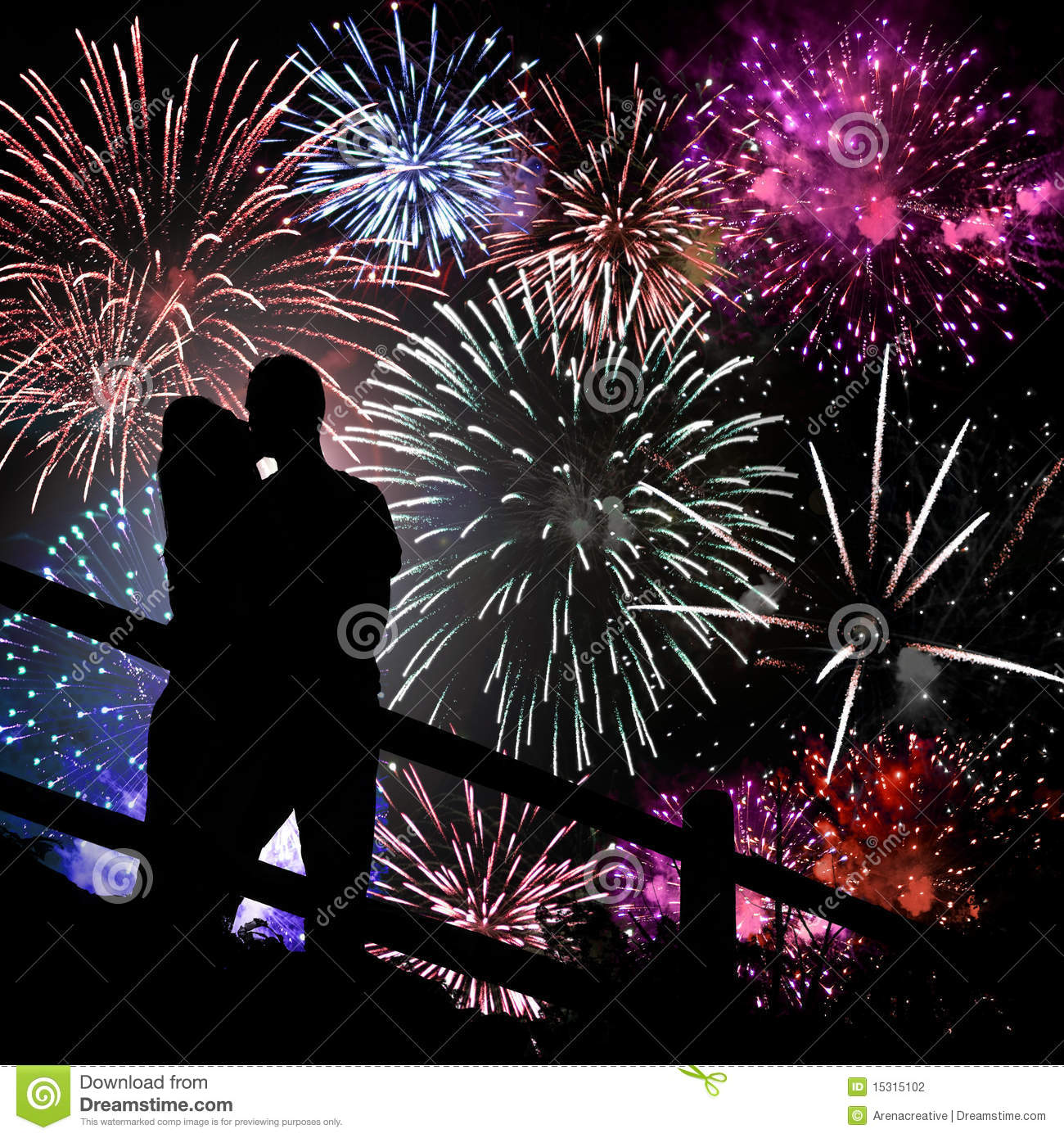 Fireworks Couple Stock Photos, Images, & Pictures.