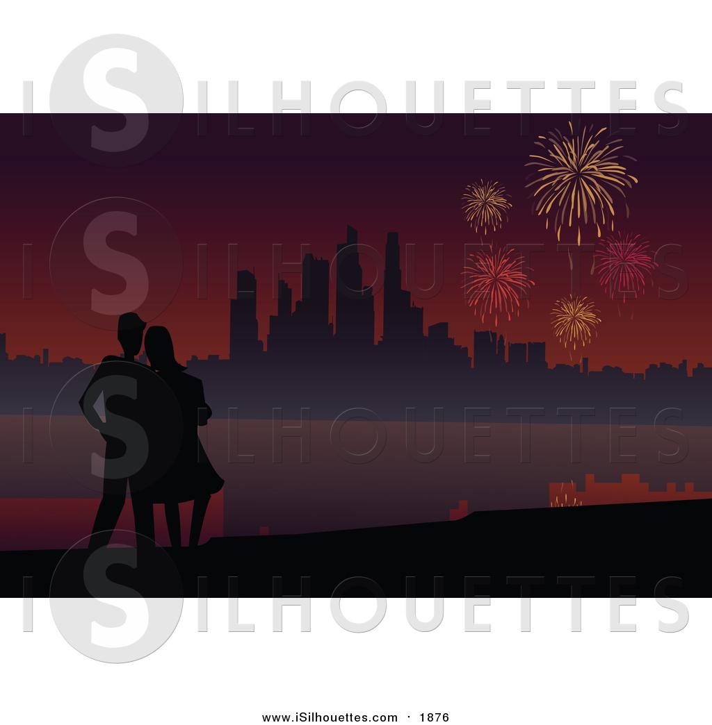 Royalty Free Romantic Stock Silhouette Designs.