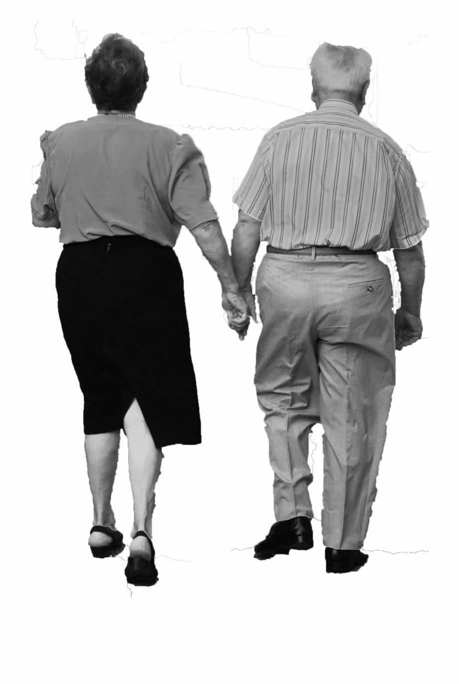 Old Couple Walking Old Couple Holding Hand Walking.
