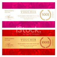 Voucher (gift Certificate / Coupon) Template (background) With R.