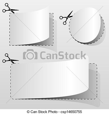 Clipart Vector of Blank advertising coupon.