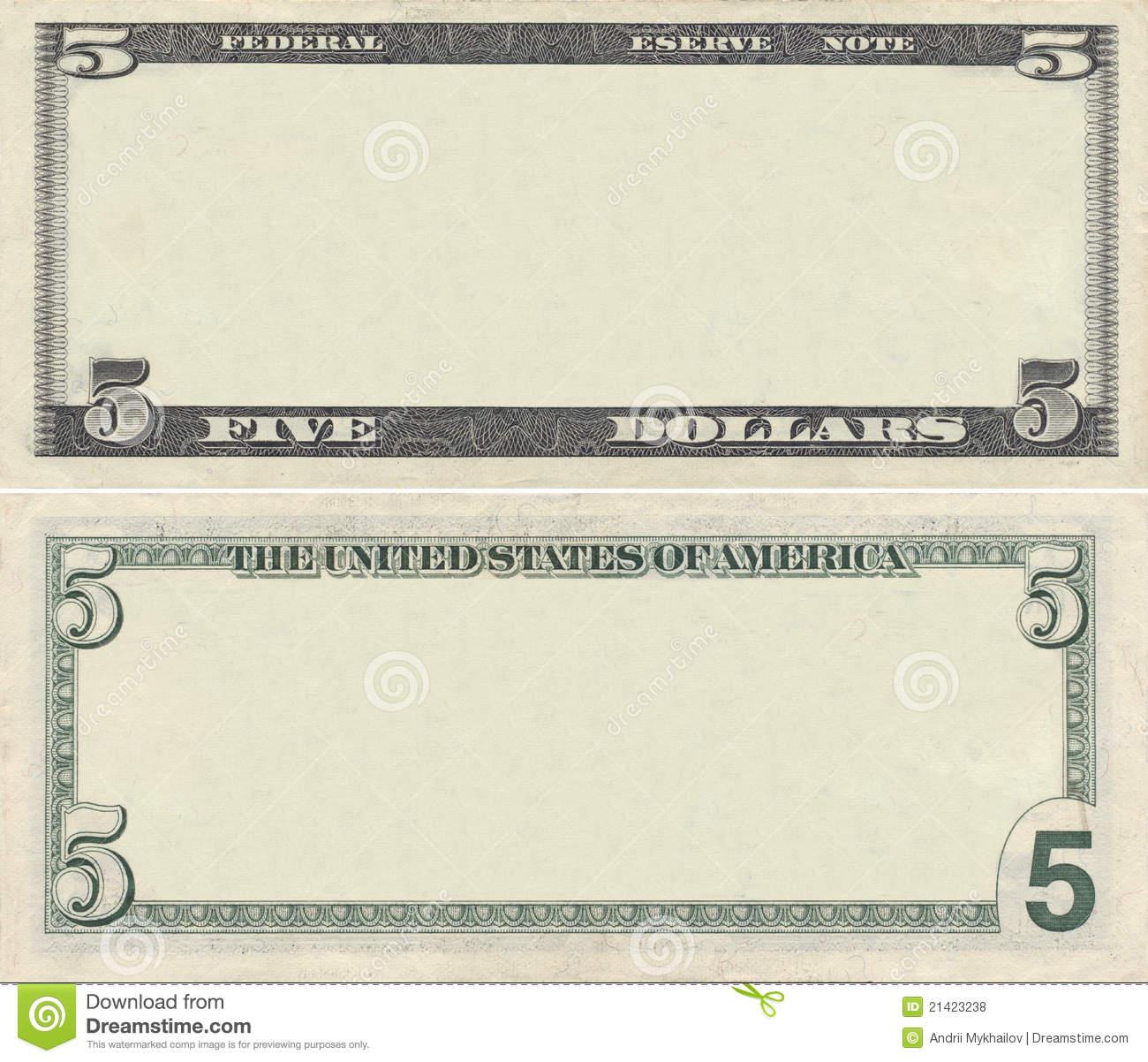 Dollar Bill Coupon Templates Clipart.