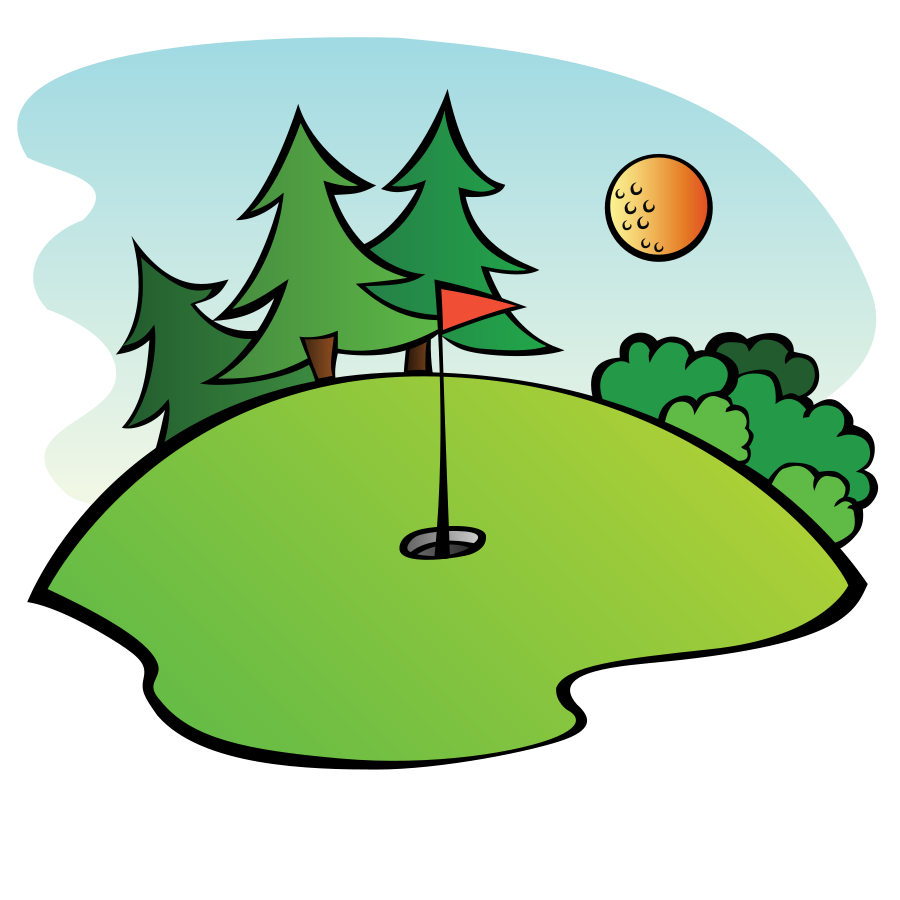 Golf Course Clipart.