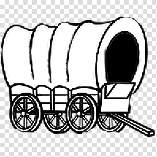 Covered wagon Line art Cart , Covered Wagon transparent.