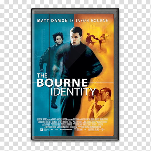 Movie covers, Bourne Identity transparent background PNG.
