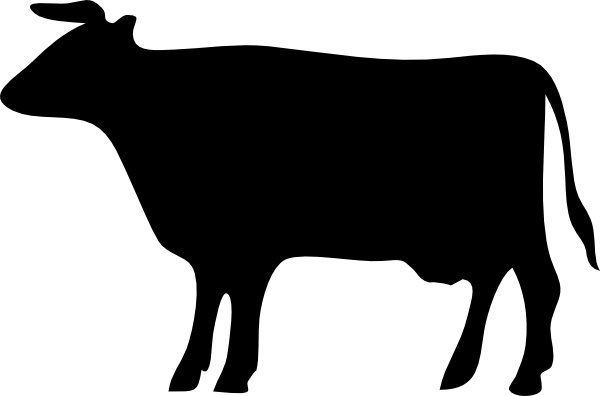 Cow Silhouette clip art Free vector in Open office drawing.