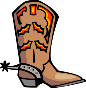 688 Cowboy Boot free clipart.