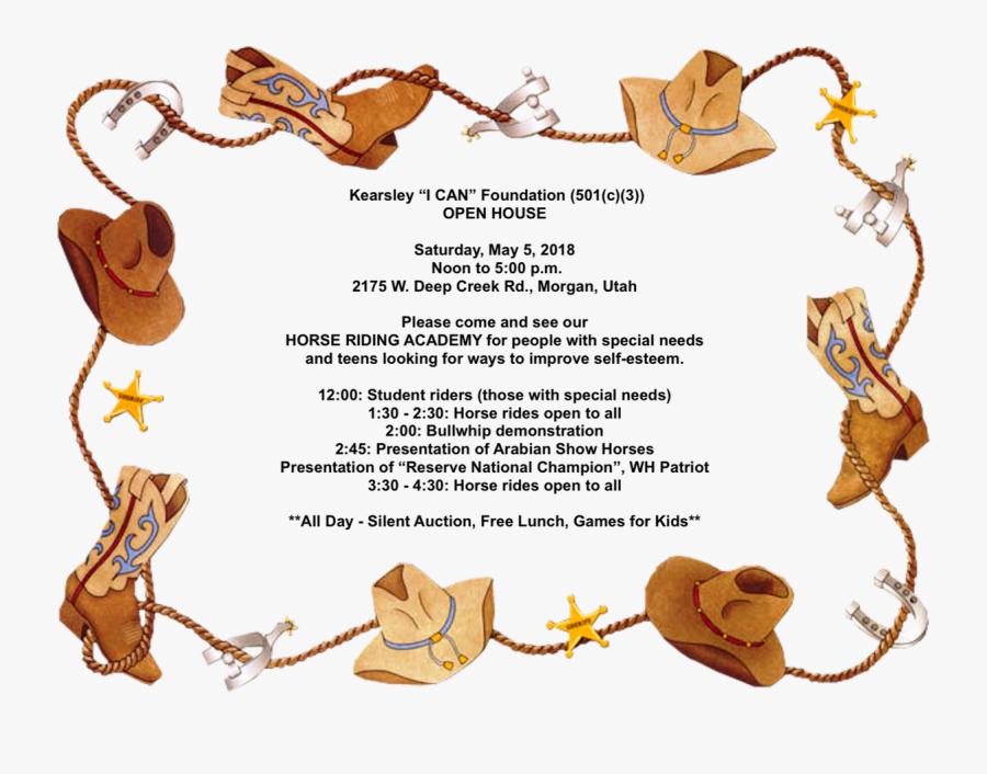 Cowboy Border , Free Transparent Clipart.