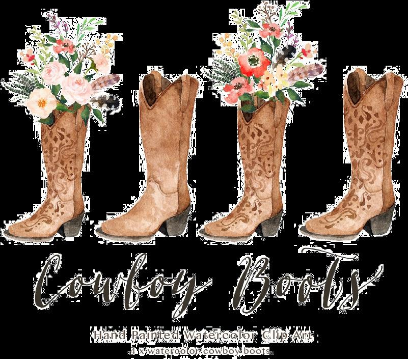 HD Cowboy Boot Transparent Image.
