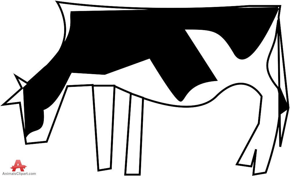 Clipart Cows Simple.