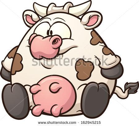 Fat Cow Clip Art Vector Cartoon Stock Vector 162945215.