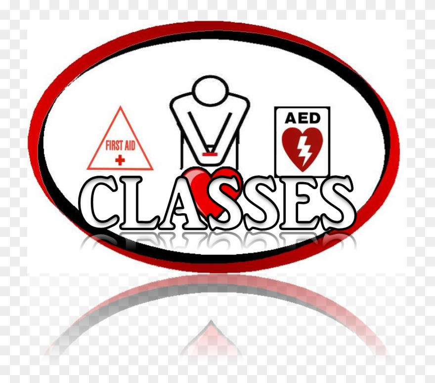 First Aid Cpr And Aed Training Clipart.