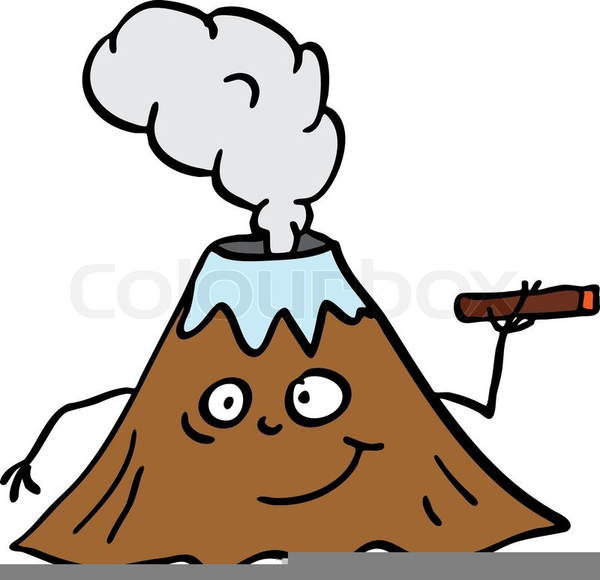 Volcano Crater Clipart.