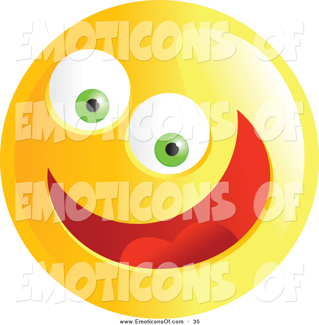 Crazy smiley face clip art.
