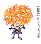 Crazy Hair For Kids Clipart.