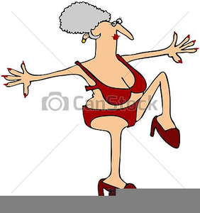 Crazy Old Lady Clipart.