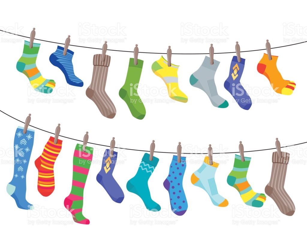 Colorful Socks Clipart.