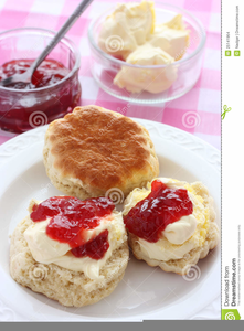 Cream Tea Clipart.