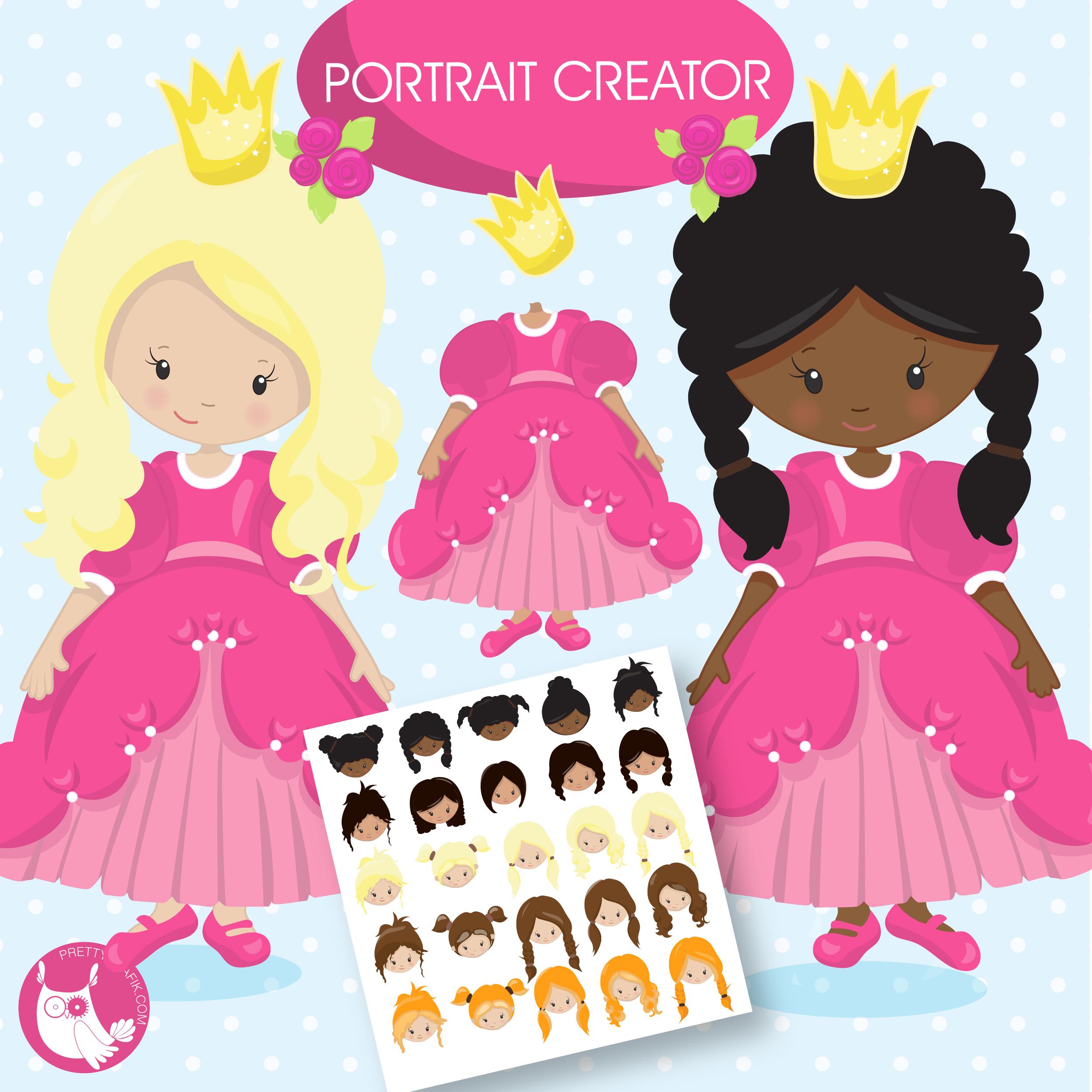 Princess Creator clipart Freebie.