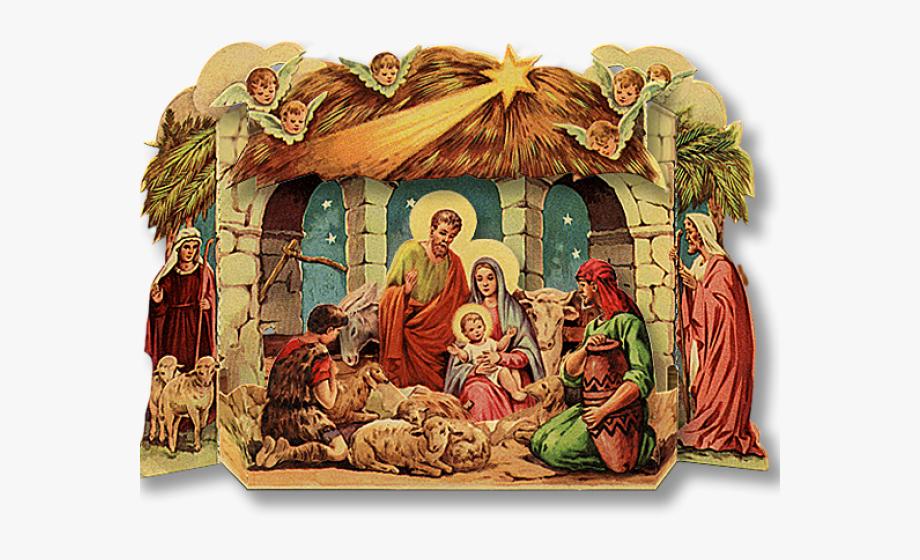 Christmas Creche Cliparts.