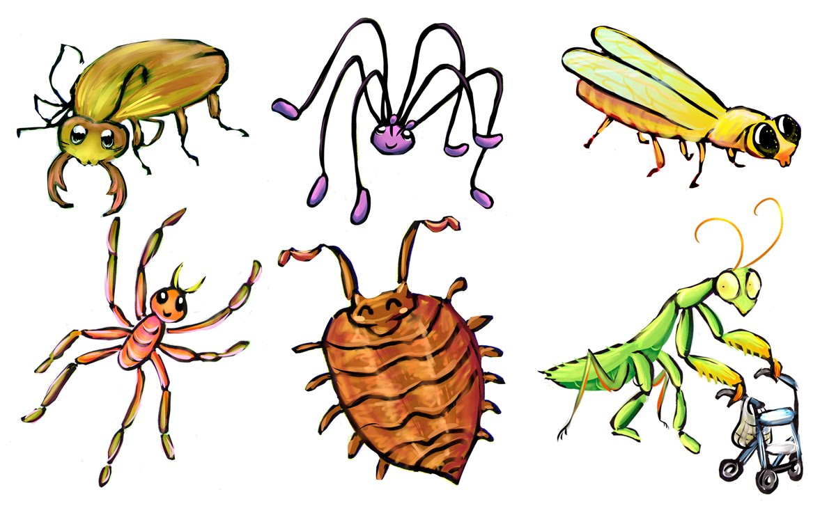 Petra's sketchblog: Cute creepy crawlers.