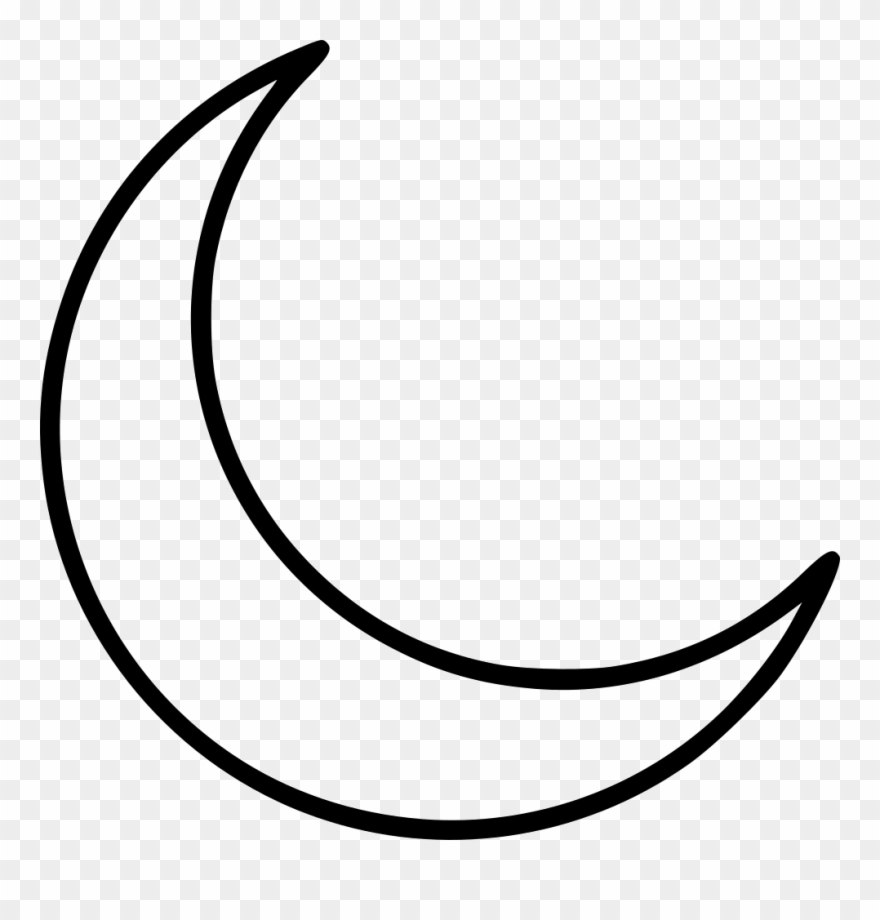 Clip Art Black And White Stock Clipart Crescent Moon.