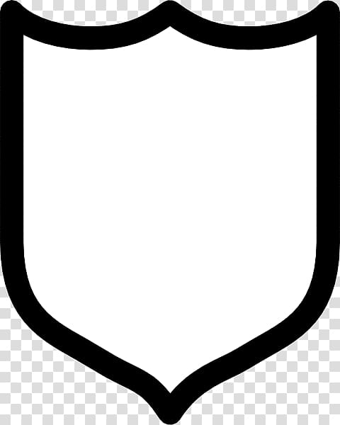 White and black shield , Crest , Free Shield transparent.