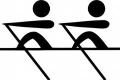 Rowing Oars Clipart.