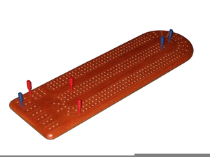 Free Clipart Cribbage Board.