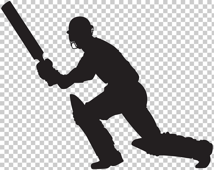 Silhouette Scalable Graphics , Cricket Player Silhouette.