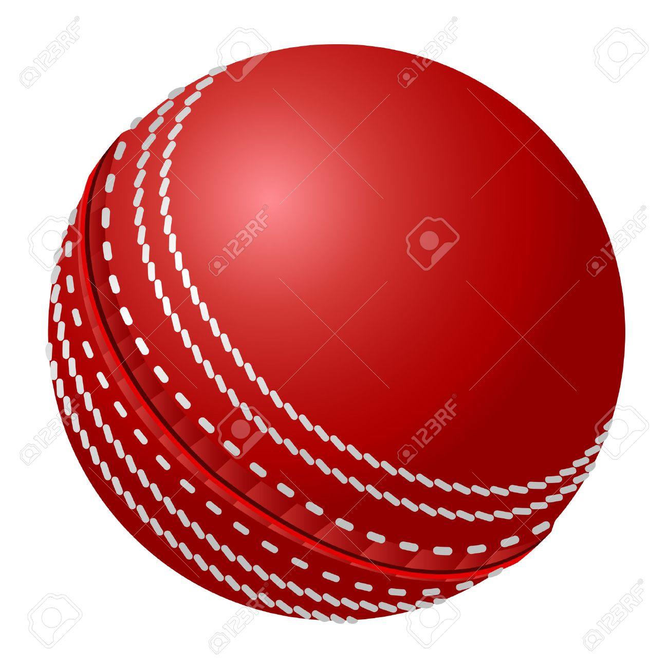 Vector cricket ball.