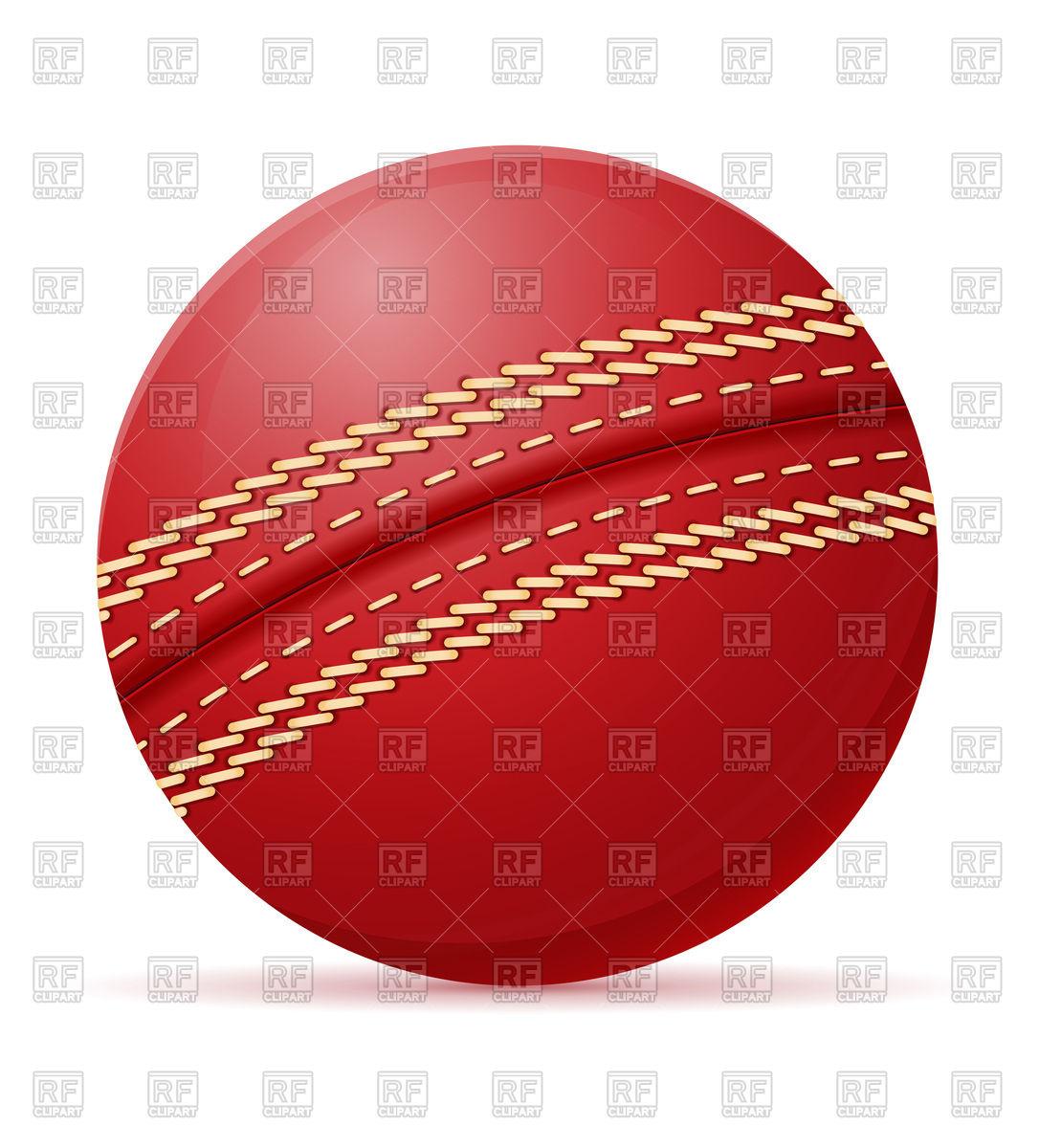 Cricket ball Stock Vector Image.