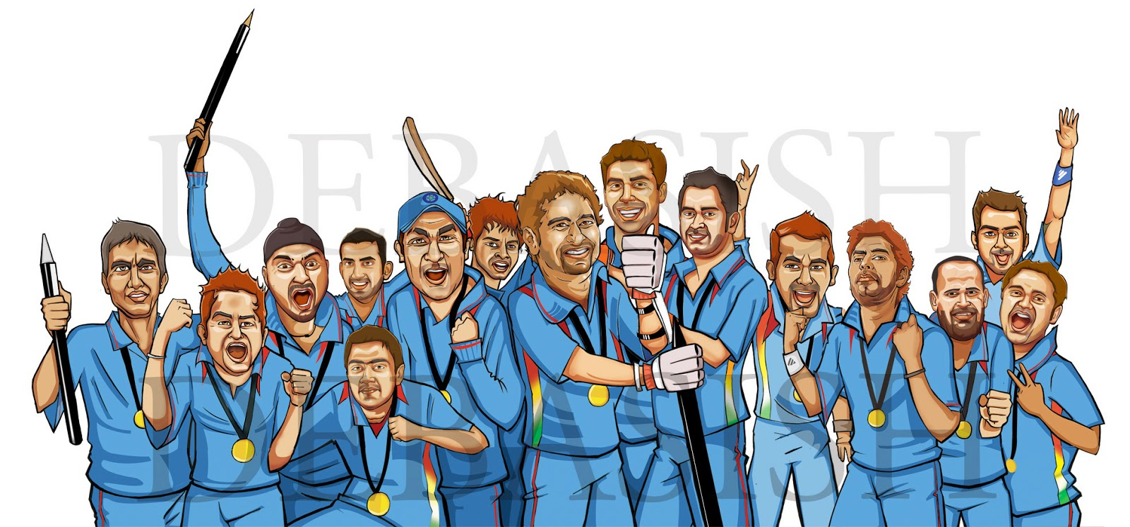 Cricket Team Clipart.