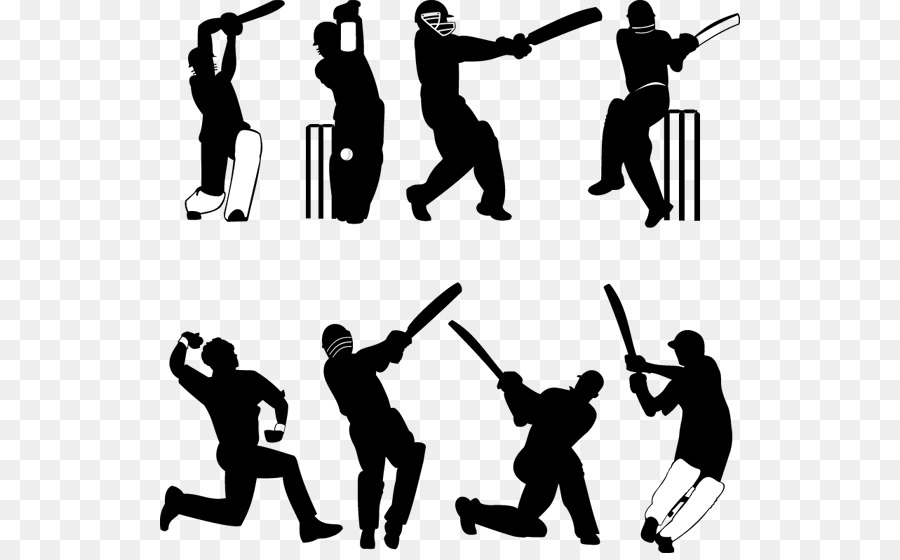 India National Cricket Team clipart.