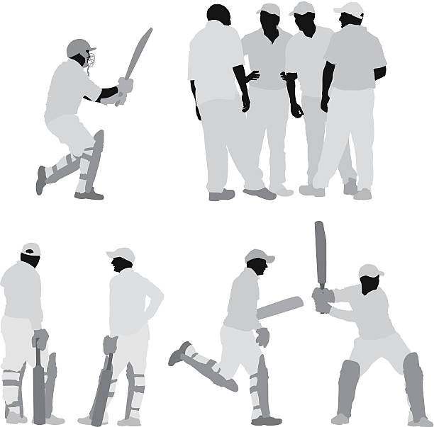 Best Cricket Team Illustrations, Royalty.
