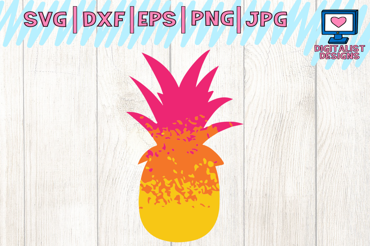 pineapple svg, grunge svg, ombre svg, pineapple clipart, cricut design  space, silhouette cameo, svg for cricut, pineapple cut file, pineapple shirt.