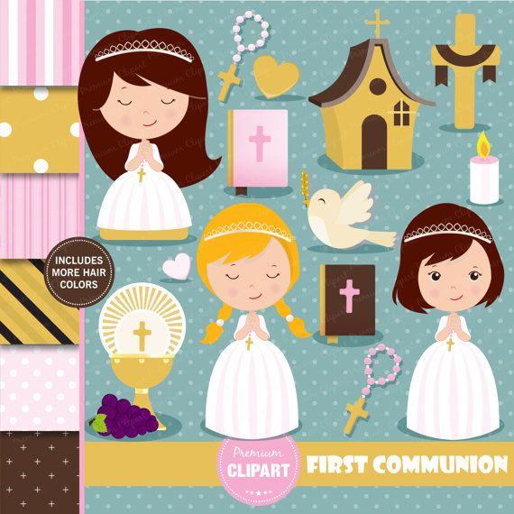 Primera comunión Imágenes Prediseñadas clipart cristianos.