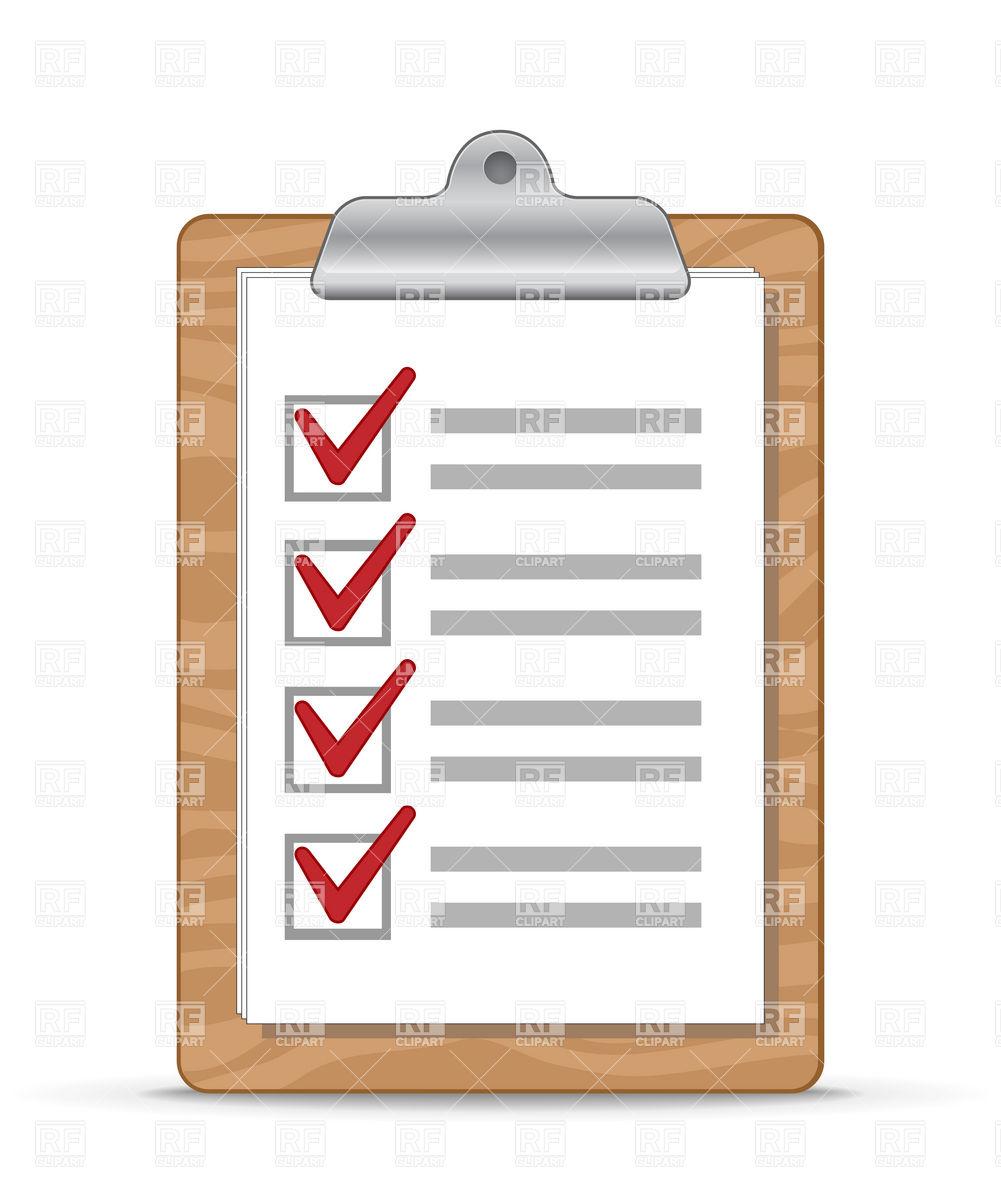 533 Checklist free clipart.