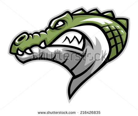 Angry Crocodile Stock Images, Royalty.