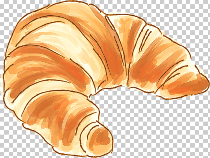 Croissant Iced coffee Cafe Bakery, croissant PNG clipart.