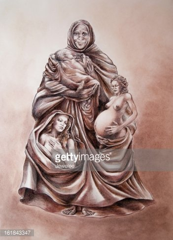 Maiden, Mother, Crone Clipart Image.