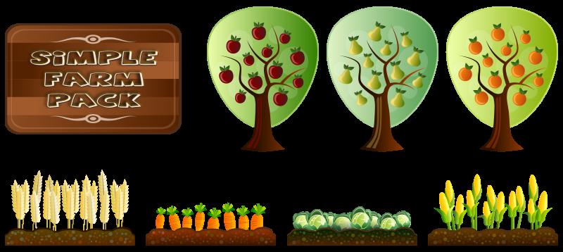 Free Clipart: Simple Farm Crops.