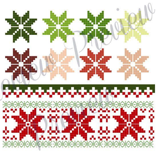 Christmas Clip Art Cross Stitch Christmas by.